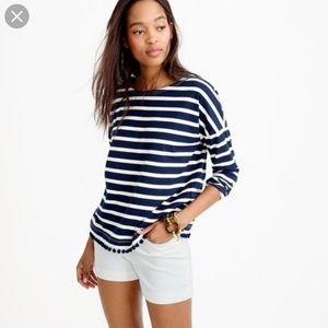 J.Crew Striped Pom Pom Shirt size small